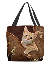 Ginger Cat  All-over Tote back