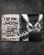 Custom Name Racing I Love You To The Moon And Back 17x11 Poster aos-poster-landscape-17x11-lifestyle-12