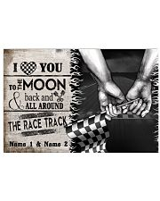 Custom Name Racing I Love You To The Moon And Back 17x11 Poster front