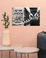 Custom Name Racing I Love You To The Moon And Back 17x11 Poster poster-landscape-17x11-lifestyle-21
