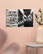 Custom Name Racing I Love You To The Moon And Back 17x11 Poster poster-landscape-17x11-lifestyle-22