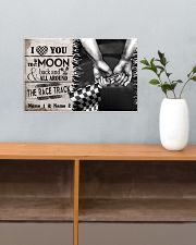 Custom Name Racing I Love You To The Moon And Back 17x11 Poster poster-landscape-17x11-lifestyle-24
