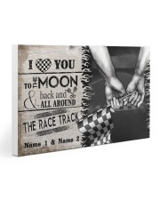 Custom Name Racing I Love You To The Moon And Back 30x20 Gallery Wrapped Canvas Prints thumbnail