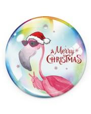 Flamingo Bubble Circle ornament - single (porcelain) front
