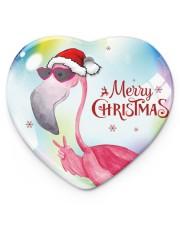Flamingo Bubble Heart Ornament (Porcelain) tile