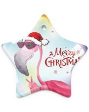 Flamingo Bubble Star Ornament (Porcelain) tile