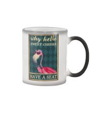 Flamingo - Have A Seat  Color Changing Mug tile