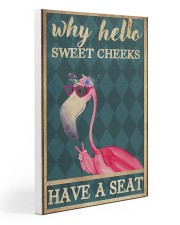Flamingo - Have A Seat  Gallery Wrapped Canvas Prints tile