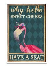 Flamingo - Have A Seat  Sticker tile