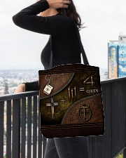 Jesus 1 Cross 3 Nails 4Given All-over Tote aos-all-over-tote-lifestyle-front-05