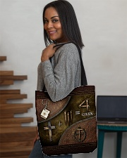 Jesus 1 Cross 3 Nails 4Given All-over Tote aos-all-over-tote-lifestyle-front-08