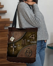 Jesus 1 Cross 3 Nails 4Given All-over Tote aos-all-over-tote-lifestyle-front-09