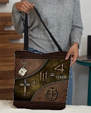 Jesus 1 Cross 3 Nails 4Given All-over Tote aos-all-over-tote-lifestyle-front-10