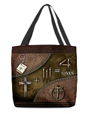 Jesus 1 Cross 3 Nails 4Given All-over Tote front