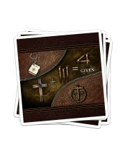 Jesus 1 Cross 3 Nails 4Given Sticker - 4 pack (Vertical) thumbnail