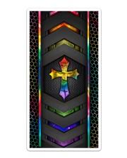 Jesus Cross Carbon Phone Case Sticker - Single (Vertical) thumbnail