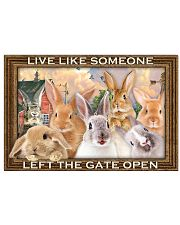 Rabbits Let The Gate Open Poster 17x11 Poster front