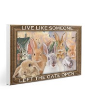 Rabbits Let The Gate Open Poster 30x20 Gallery Wrapped Canvas Prints thumbnail