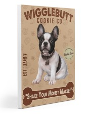 Bull Dog - French Bulldog Wigglebutt Cookie Gallery Wrapped Canvas Prints tile