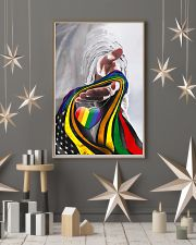 God And LGBT America Flag 11x17 Poster lifestyle-holiday-poster-1