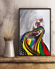 God And LGBT America Flag 11x17 Poster lifestyle-poster-3