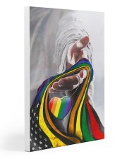God And LGBT America Flag 20x30 Gallery Wrapped Canvas Prints thumbnail