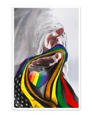 God And LGBT America Flag Sticker - Single (Vertical) thumbnail