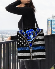Back The Blue Roses  All-over Tote aos-all-over-tote-lifestyle-front-05