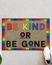 "LGBT Be Kind Or Be Gone Doormat 22.5"" x 15""  aos-doormat-22-5x15-lifestyle-front-06"