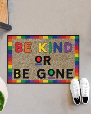 "LGBT Be Kind Or Be Gone Doormat 22.5"" x 15""  aos-doormat-22-5x15-lifestyle-front-07"
