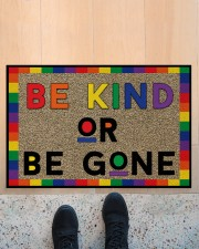 "LGBT Be Kind Or Be Gone Doormat 22.5"" x 15""  aos-doormat-22-5x15-lifestyle-front-10"