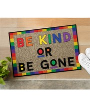 "LGBT Be Kind Or Be Gone Doormat 22.5"" x 15""  aos-doormat-22-5x15-lifestyle-front-11"