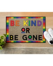 "LGBT Be Kind Or Be Gone Doormat 22.5"" x 15""  aos-doormat-22-5x15-lifestyle-front-12"