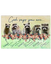 Raccoon God Says You Are 17x11 Poster front
