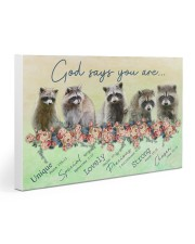 Raccoon God Says You Are 30x20 Gallery Wrapped Canvas Prints thumbnail