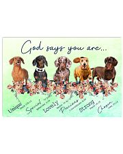 Dachshund - God Says You Are 17x11 Poster front