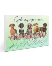 Dachshund - God Says You Are 30x20 Gallery Wrapped Canvas Prints thumbnail
