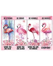 Flamingo Be Strong 17x11 Poster front