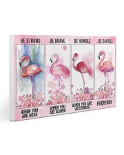Flamingo Be Strong 30x20 Gallery Wrapped Canvas Prints thumbnail
