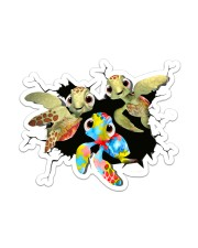 Turtle Autism St Sticker - Single (Vertical) front