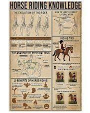 Horse Riding Knowledge 11x17 Poster front