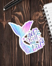 Mermaid - Get Off My Tail Sticker - Single (Vertical) aos-sticker-single-vertical-lifestyle-front-05
