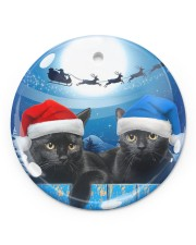 Cat - Blue Moon Ornament Circle Ornament (Porcelain) tile