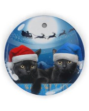 Cat - Blue Moon Ornament Circle Ornament (Wood tile