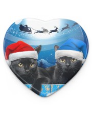 Cat - Blue Moon Ornament Heart Ornament (Porcelain) tile