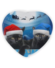 Cat - Blue Moon Ornament Heart Ornament (Wood) tile
