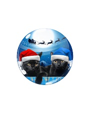 Cat - Blue Moon Ornament Circle Magnet tile