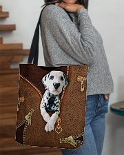 Dalmatian  All-over Tote aos-all-over-tote-lifestyle-front-09