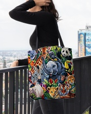 Elephant - Elephant And Friends All-over Tote aos-all-over-tote-lifestyle-front-05