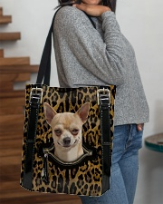 Chihuahua - Leopard - Zip Pocket All-over Tote aos-all-over-tote-lifestyle-front-09